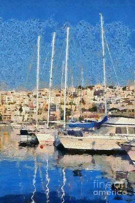Mikrolimano Port Poster by George Atsametakis