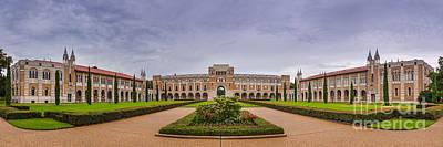 Panorama Of Rice University Academic Quad - Houston Texas Poster by Silvio Ligutti