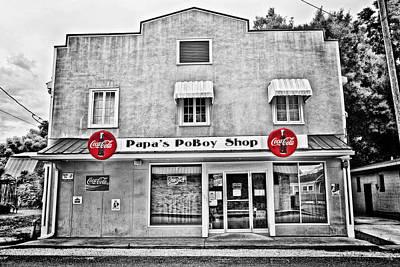 Papa's Poboy Shop Poster by Scott Pellegrin