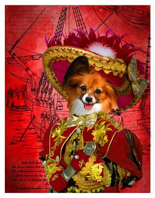Papillon - Continental Toy Spaniel Art Canvas Print Poster by Sandra Sij