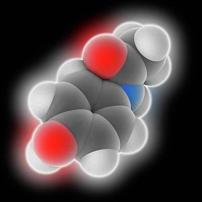 Paracetamol Drug Molecule Poster