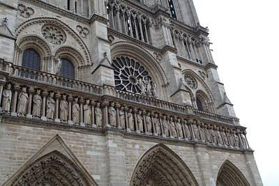 Paris France - Notre Dame De Paris - 01138 Poster by DC Photographer
