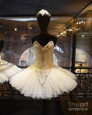 Paris Opera House Ballerina Costumes - Paris Opera Garnier Ballet Art - Ballerina Fashion Tutu Art Poster
