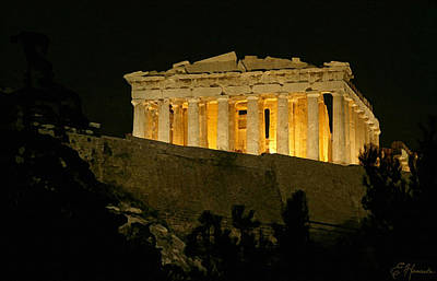 Parthenon Poster by Ellen Henneke