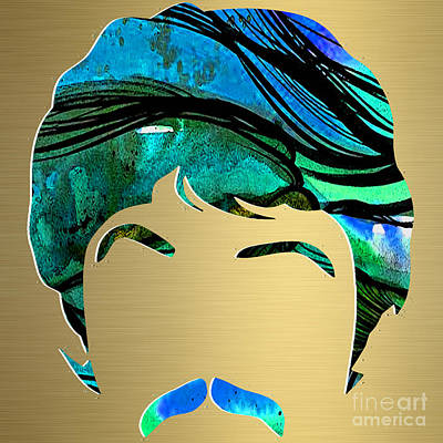 Paul Mccartney Gold Series Poster by Marvin Blaine