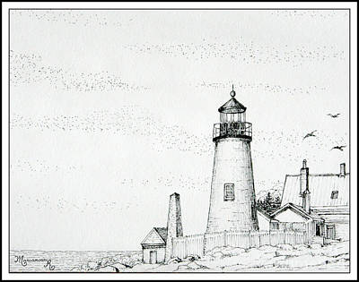 Pemaquid Point Lighthouse Poster by Mariarosa Rockefeller