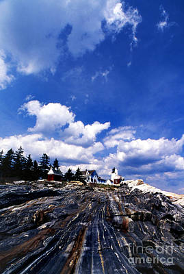 Pemaquid Point Lighthouse Poster by Skip Willits