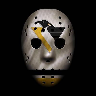 Penguins Jersey Mask Poster