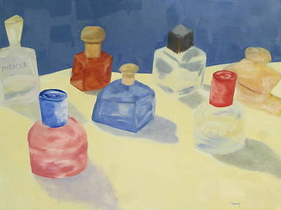 Perfume Bottles Poster by Patricia Cleasby