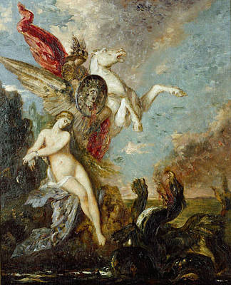 Perseus And Andromeda Poster by Gustave Moreau