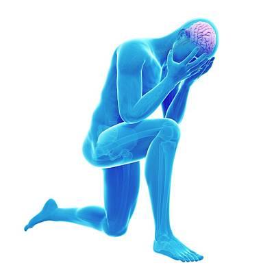 Person Kneeling Poster by Sebastian Kaulitzki