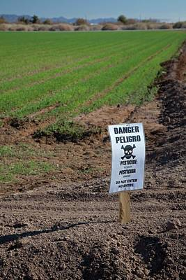 Pesticide Warning Sign Poster