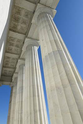 Pillars At Lincoln Memorial Poster