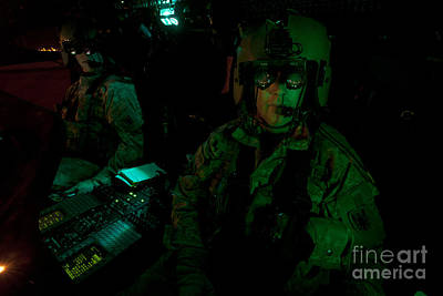 Pilots Equipped With Night Vision Poster