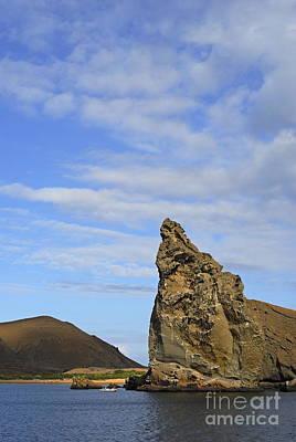 Pinnacle Rock Viewed From Sea Poster by Sami Sarkis