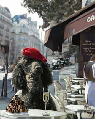 Poodle In Paris Poster