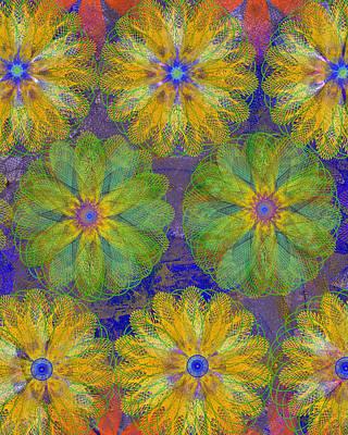 Pop Spiral Floral 18 Poster