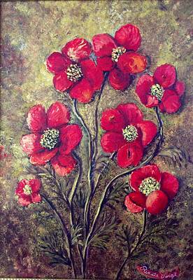Poppies Poster by Renate Voigt