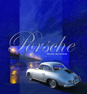 Porsche 1600 Super Poster by Ron Regalado