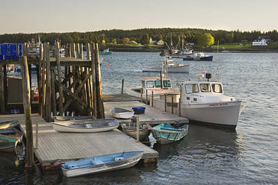 Port Clyde Maine Boats And Harbor Poster by Keith Webber Jr