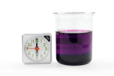 Potassium Permanganate Diffusion In Water Poster by Trevor Clifford Photography