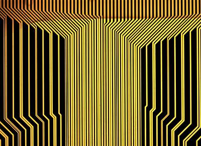 Printed Circuit Poster by Alfred Pasieka