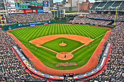 Progressive Field Poster by Frozen in Time Fine Art Photography