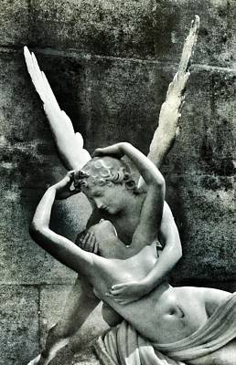 Poster featuring the photograph Psyche Revived By Cupid's Kiss by Marianna Mills