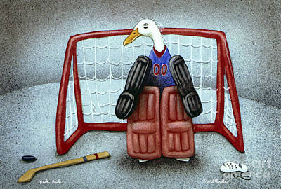 puck duck... by Will Bullas Poster by Will Bullas