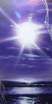 Ocean - ' Purple Aura ' Poster