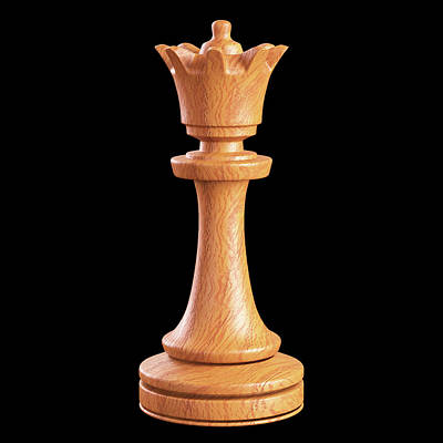 Queen Chess Piece Poster by Ktsdesign