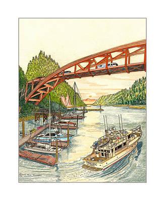 Rainbow Bridge La Connor W A Poster by Jack Pumphrey