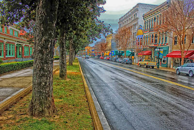 Rainy Day In Hot Springs Arkansas Poster by Mountain Dreams