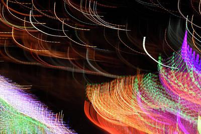 Random Light Trails As Abstract Art Poster
