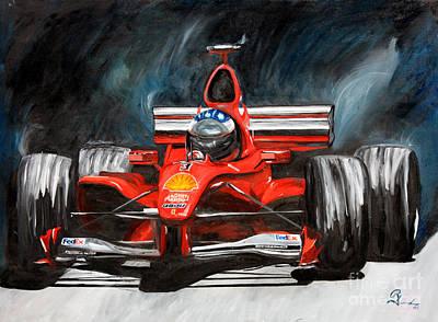 Red #3 Poster by Robert Schippnick