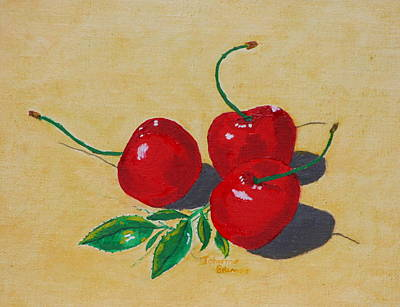 Red Cherries Poster by Johanna Bruwer