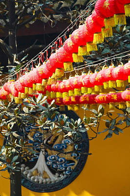 Red Lanterns At A Temple, Jade Buddha Poster