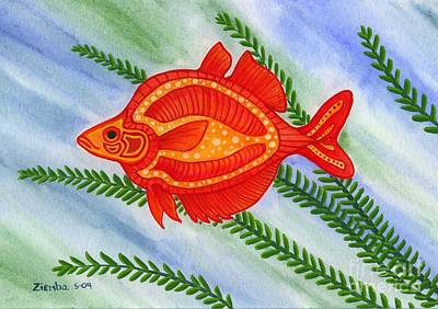 Red Rainbow Fish Poster