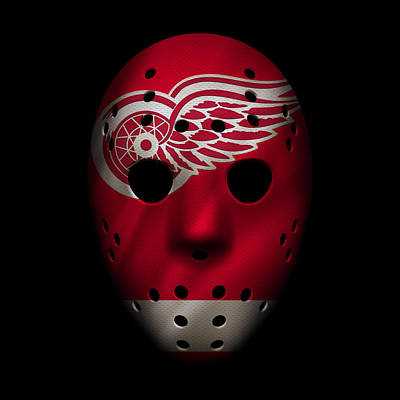Red Wings Jersey Mask Poster