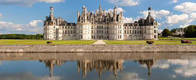 Reflection Of A Castle In A River Poster by Panoramic Images
