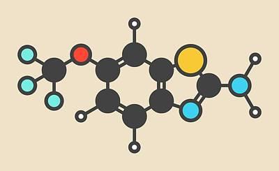 Riluzole Als Drug Molecule Poster