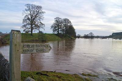 River Eden Flooding. Poster by Mark Williamson