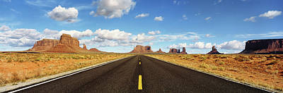 Road, Monument Valley, Arizona, Usa Poster