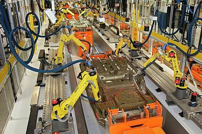 Robotic Car Production Line Poster by Jim West