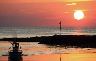 Rock Harbor Sunset Poster by Jim Gillen