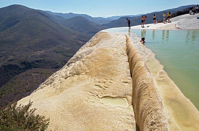 Rock Terrace And Geothermal Pool Poster by Jim West