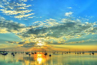 Rockland Harbor Sunrise On July 4 2013 Poster