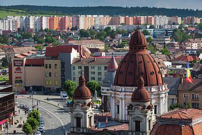 Romania, Transylvania, Targu Mures Poster by Walter Bibikow