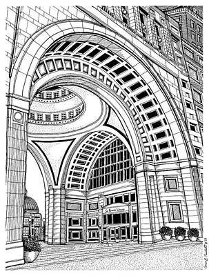 Rowes Wharf Poster by Conor Plunkett