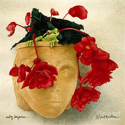 Ruby Begonia... Poster